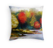 Autumn Landscape - Abstract Art Throw Pillow