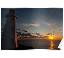 Sunrise Lighthouse - Cape Spear, Nfld Poster