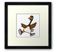 Silly Goose with Red Sneakers Framed Print