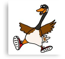 Silly Goose with Red Sneakers Canvas Print