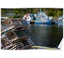 Lobster Traps - Petty Harbour, Newfoundland Poster