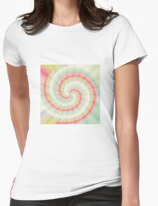 Hypnotizing spiral Womens Fitted T-Shirt
