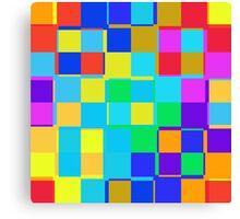 Colorful squares pattern Canvas Print
