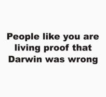 Darwin Insult Slogan by sweetsixty