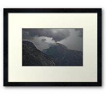 Cloud O'Death on Half Dome Framed Print