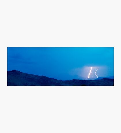 Lightning Bolts Hitting the Rocky Mountains Continental Divide Photographic Print