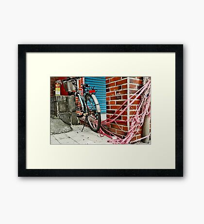 streamer bound bike Framed Print