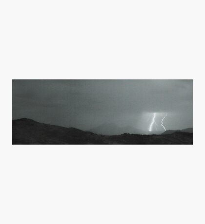 Lightning Bolts Hitting the Rocky Mountains Continental Divide BW Photographic Print