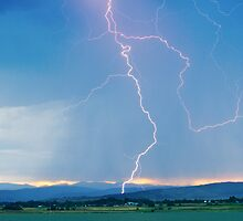 Rocky Mountain Front Range Foothills Lightning Strikes 1 by Bo Insogna