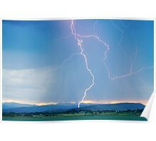 Rocky Mountain Front Range Foothills Lightning Strikes 1 Poster