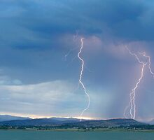 Colorado Rocky Mountains Foothills Lightning Strikes 2 by Bo Insogna