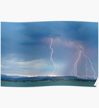Colorado Rocky Mountains Foothills Lightning Strikes 2 Poster