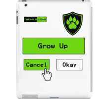 Wild Logo 'Grow Up Options' Tee iPad Case/Skin