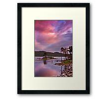 Sunset at Loch Assynt, Scotland Framed Print