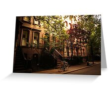 Summer in Greenwich Village Greeting Card