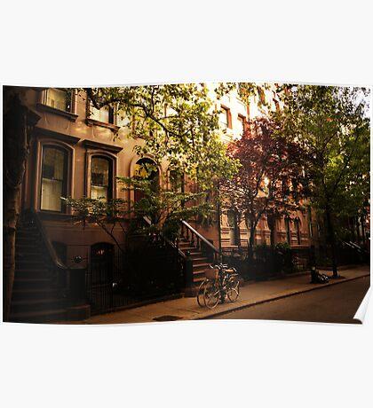 Summer in Greenwich Village Poster