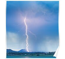 Lightning Strike Colorado Rocky Mountain Foothills Boulder Count Poster
