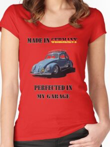 Made in Germany perfected in My Garage bug Women's Fitted Scoop T-Shirt