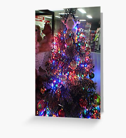 Xmas Tree Window Greeting Card