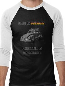 Made in Germany perfected in My Garage bug B&W Men's Baseball ¾ T-Shirt