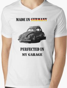 Made in Germany perfected in My Garage bug B&W Mens V-Neck T-Shirt