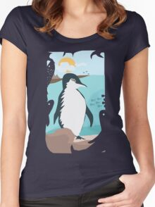 Penguin Vacation Women's Fitted Scoop T-Shirt