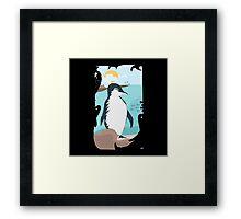 Penguin Vacation Framed Print