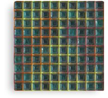 Square holes pattern Canvas Print