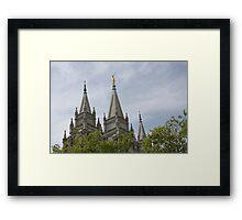 Salt Lake Temple below Framed Print