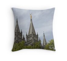 Salt Lake Temple below Throw Pillow