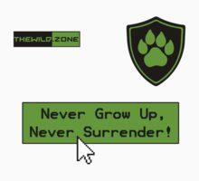 Wild Logo 'Never Grow Up!' Tee Kids Tee