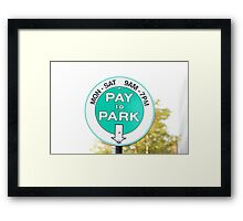 Park Free On Sundays Framed Print