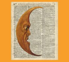 Vintage Half Moon Face Dictionary Art Unisex T-Shirt