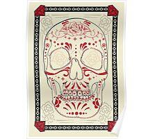 Crimson & Cream Calavera Poster