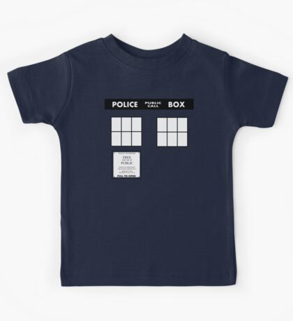 Tardis Door (Version 2) Kids Tee