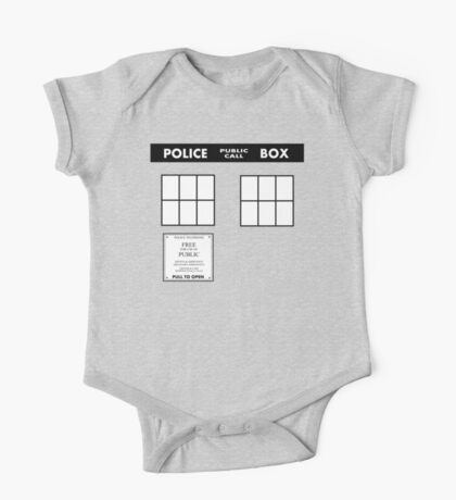 Tardis Door (Version 2) One Piece - Short Sleeve