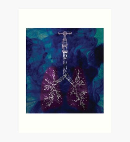 Liquid Lungs Art Print