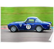 Triumph TR4 No 77 Poster