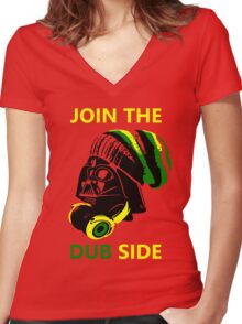 Dub Vader (green-yellow) Women's Fitted V-Neck T-Shirt