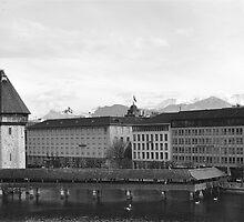Water Tower Lucerne, Switzerland by itchingink