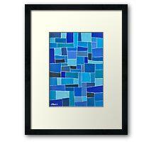 Dutch Blue - Brush And Gouache Framed Print