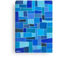 Dutch Blue - Brush And Gouache Canvas Print