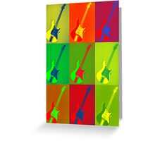 Electric Guitar Collage Greeting Card