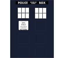 Tardis Door (Version 1) Photographic Print