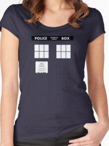 Tardis Door (Version 1) Women's Fitted Scoop T-Shirt