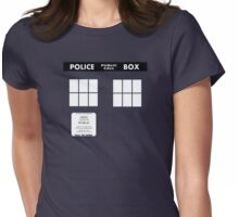 Tardis Door (Version 1) Womens Fitted T-Shirt