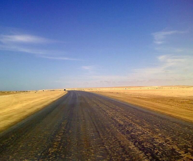 Quot Salt Road Between Swakopmund And Hentiesbaai Namibia
