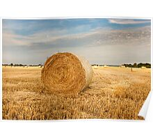 Norfolk Hay Bale Poster