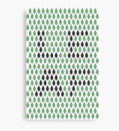Leaf Typography  Canvas Print