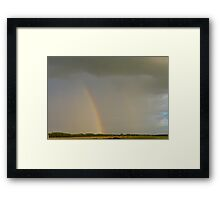 Double Rainbow Over The Prairies Framed Print